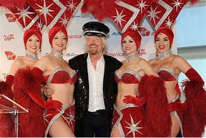 Branson Richard Virgin Vegas Las Showgirls Sir