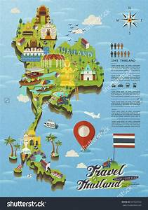 Thailand attractions map - Thailand tourist attractions ...