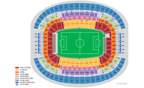 att stadium arlington tx seating chart view