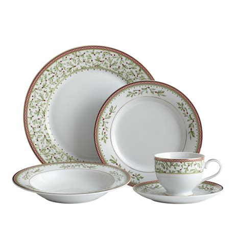 dinnerware mikasa holiday piece service traditions christmas bowl plate festive