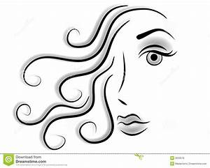 Abstract Face Woman Clip Art Stock Illustration ...
