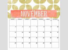 Get Free November & December 2018 Printable Calendar [PDF