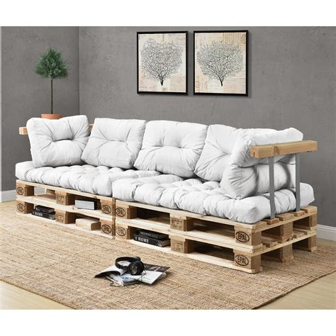 canape en palette en casa 1x back cushions pallet in outdoor sofa padding