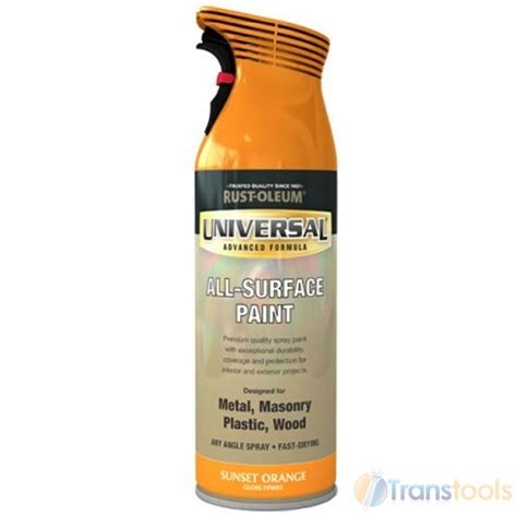 Rust Oleum Decorative Concrete Coating Sunset by Rust Oleum Universal All Surface Sunset Orange Gloss Spray