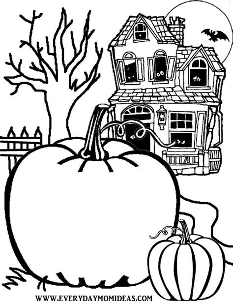 Scary Halloween Coloring Pages Online scary halloween coloring pages printables id 24345