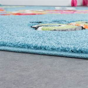 Teppich Grün Türkis Blau : eulen teppich t rkis creme gr n kinderzimmerteppich mit konturenschnitt kinderteppich ~ Markanthonyermac.com Haus und Dekorationen