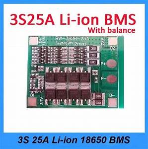Jual 3s 25a Battery Lithium 18650 Charger Bms Pcm