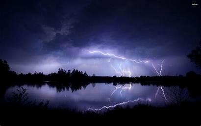 Lightning Wallpapers Storm Nature Strike Striking Night