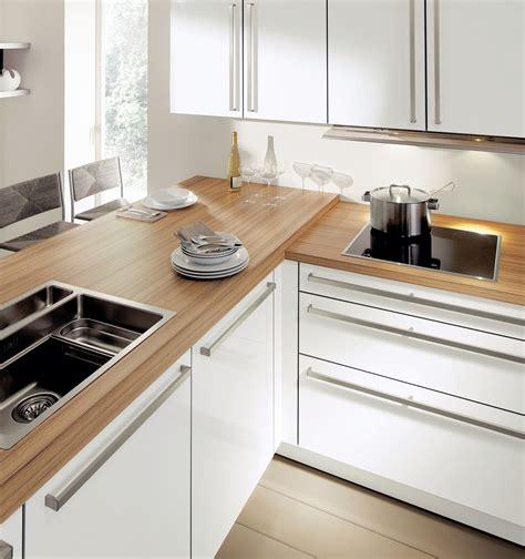 frais cuisine blanc laqu 233 et bois impressionnant design