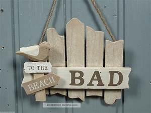 Bad Deko Maritim : t r schild bad aus holz to the beach ca 17x14cm maritime bad deko ~ Bigdaddyawards.com Haus und Dekorationen