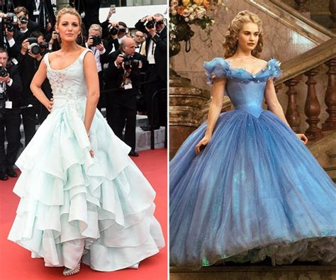 Blake Lively?s Cinderella Dress Cannes 2016: Lily James ? Who Wore It Better?   Hollywood Life