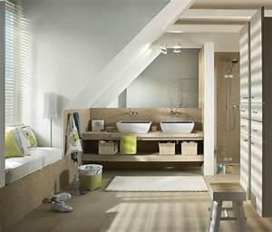 amenagement petite salle de bain sous comble salle de With amenagement de salle de bain sous comble