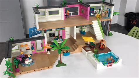 chambre de villa le studio des invités playmobil 5586 extension de la