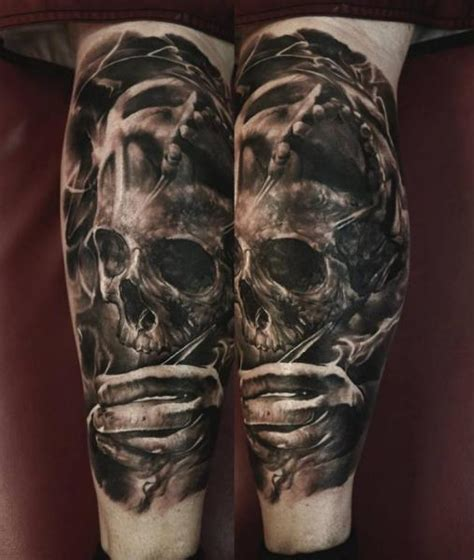 calf skull tattoo  domantas parvainis