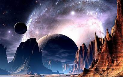 Planets Alien Another Fantastic Space Universe Sky