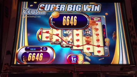 Zeus 3 Penny Slot Machine Super Big Win Line Hit Near Full