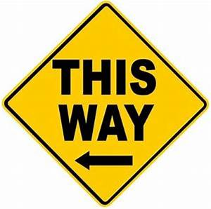 Road Sign - Yellow Diamond - This Way Arrow Left eBay