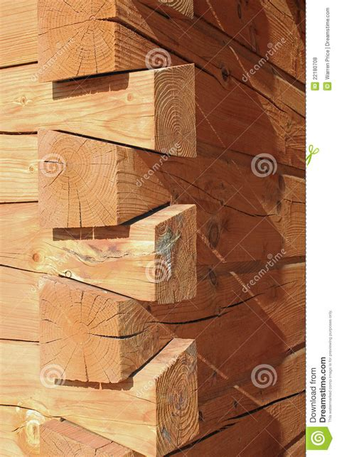 log cabin construction joints stock photo image  house construction