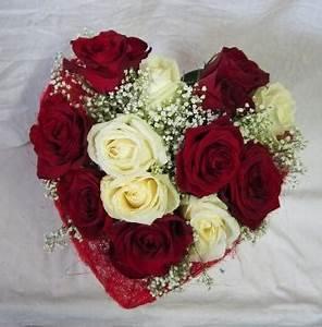 Fleur Rose Et Blanche : bouquet de rose blanche et rouge l 39 atelier des fleurs ~ Dallasstarsshop.com Idées de Décoration