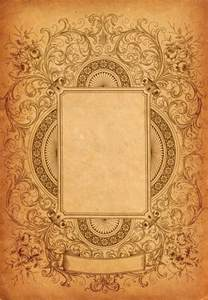 Vintage Book Cover Borders