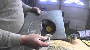 How to cut porcelain tile around the toilet flange youtube for How to cut ceramic floor tile