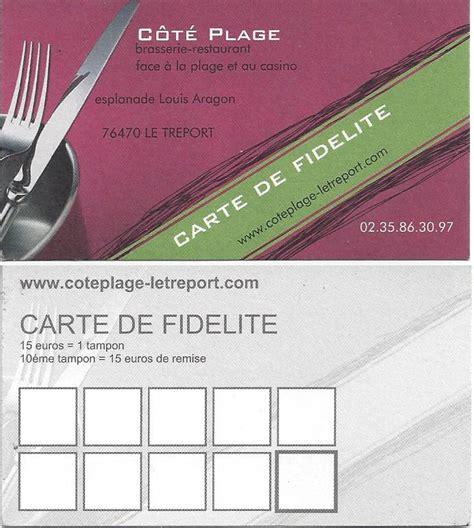 rapport qualité prix cuisine la carte de fidélité restaurant au tréport