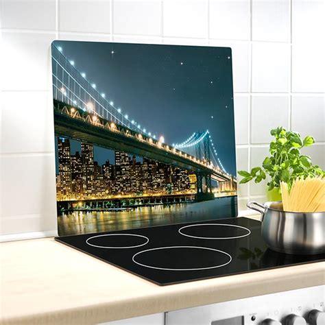 plaque protection murale cuisine protection murale en verre bridge wenko protection plaques de cuisson crédence