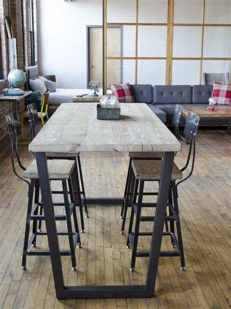 Reclaimed High Top Table, Standing Height Bistro Table