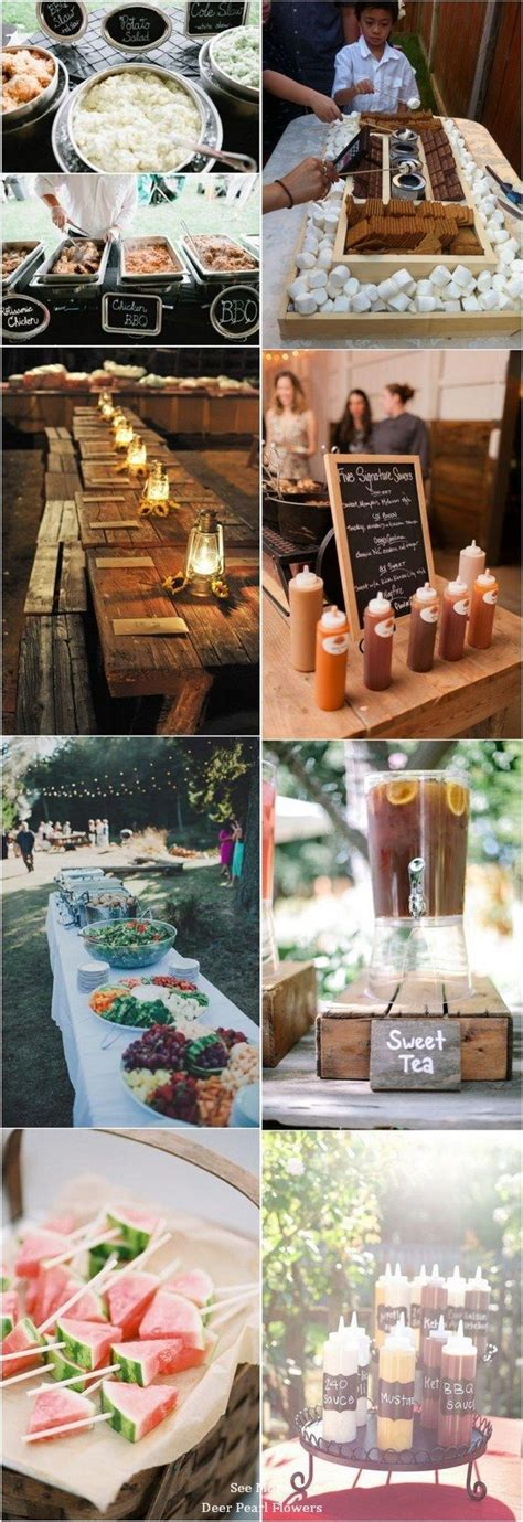 Top 25 Rustic Barbecue BBQ Wedding Ideas Backyard bbq