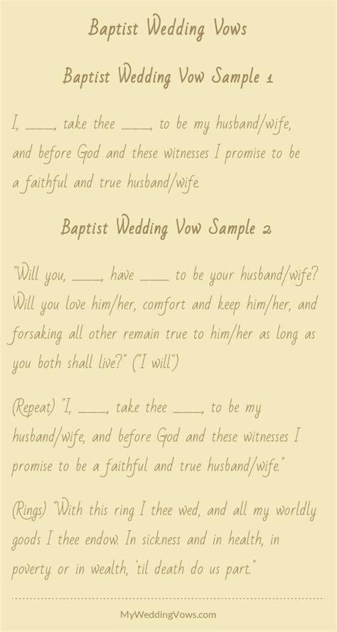 baptist wedding vows wedding vows husband and weddings