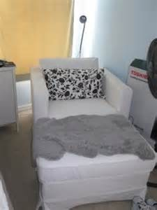 60 white ikea lounge chair with ottoman for sale in