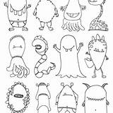 Coloring Halloween Zwischendurch Fuer Monsters Nestofposies sketch template
