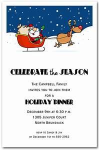 Job For Customer Service Santa 39 S Take Off Holiday Invitation Christmas Invitations