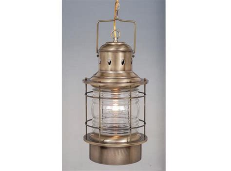 antique brass and clear glass exterior hanging light