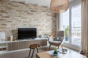 Pierre De Parement Intérieur : un parement de pierre dans le salon ~ Melissatoandfro.com Idées de Décoration