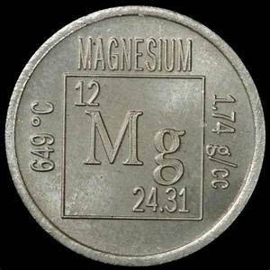 Element Coin  A Sample Of The Element Magnesium In The