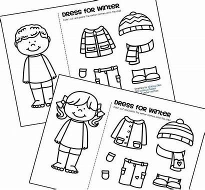 Preschool Cut Paste Winter Activities Clothes Crafts