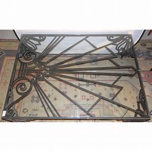 Table Basse Fer Forgé : table basse art d co en fer forg sur moinat sa antiquit s d coration ~ Teatrodelosmanantiales.com Idées de Décoration