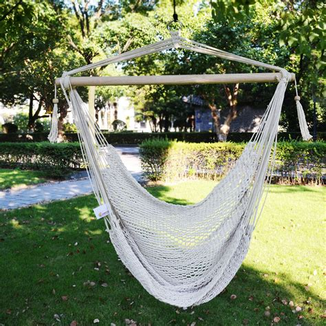 Hammock Chair Outdoor by New Hanging Swing Cotton Rope Hammock Chair Seat Patio
