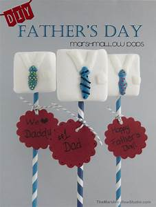 {DIY} FATHER'S DAY EASY MARSHMALLOW POPS