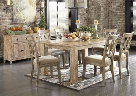 white washed oak dining table images