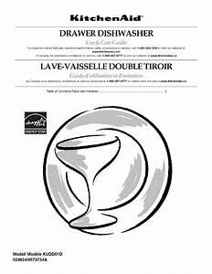 Kitchenaid Kudd01dppa1 User Manual Dishwasher Manuals And