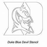 Duke Basketball College Devils Coloring Printable Kentucky sketch template