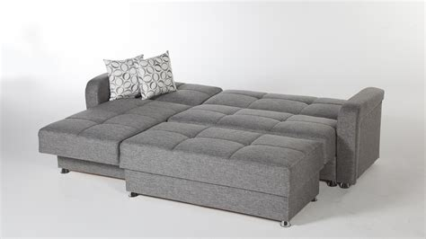 Large 3 Piece Microfiber Tufted Sectional Sleeper Sofa