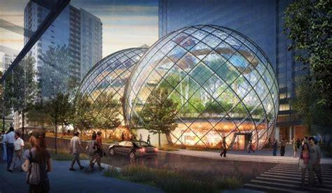 k par k siege social amazon soffre un siège social futuriste et écolo en bulles