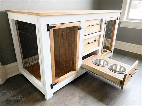 diy dog crate console   perfect combination