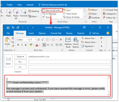 Office 365 Mail Footer by How To Add Disclaimer Signature Text Footer In Emails In