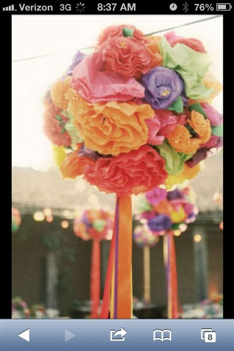Ribbons Lanterns and Poms?? Mexican themed weddings