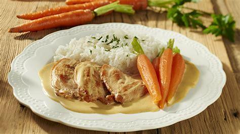 cuisiner escalope de dinde risotto aux légumes et chignons recette knorr