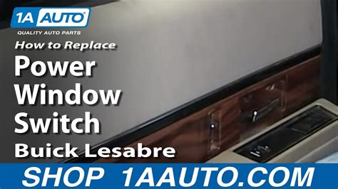 How To replace Install Fix Rear Power Window Switch 1992 ...